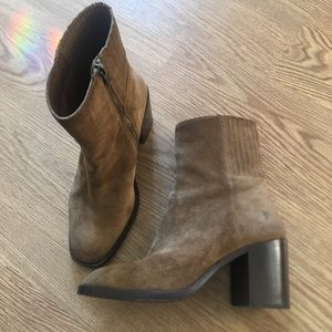 Frye suede leather ankle boots